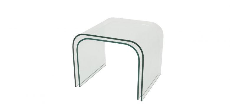 Table Basse Gigogne En Verre Design 12MM