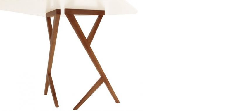Table de Repas Design Linna 180 cm - Blanc et Hévéa