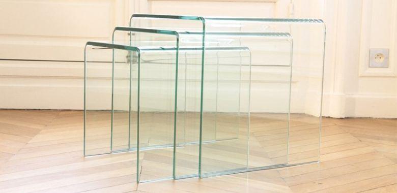 Table Gigogne En Verre Design 12MM