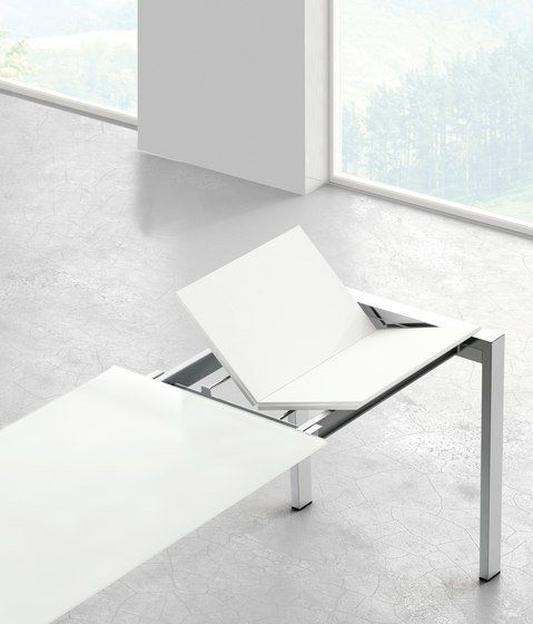 Table de Repas Rectangle à Rallonge Punto 120 - Design Ondarreta