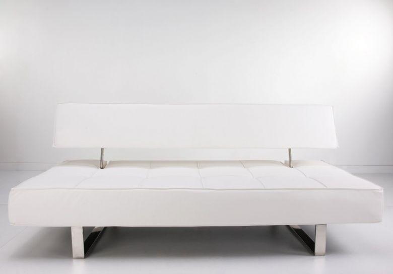 Canapé Convertible Design Tétrix Blanc