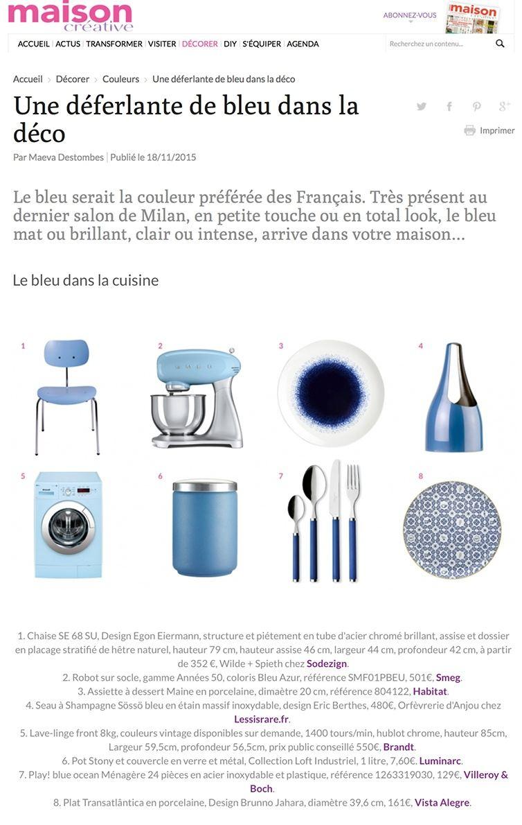 Maison-creative.com - Thème sur le bleu