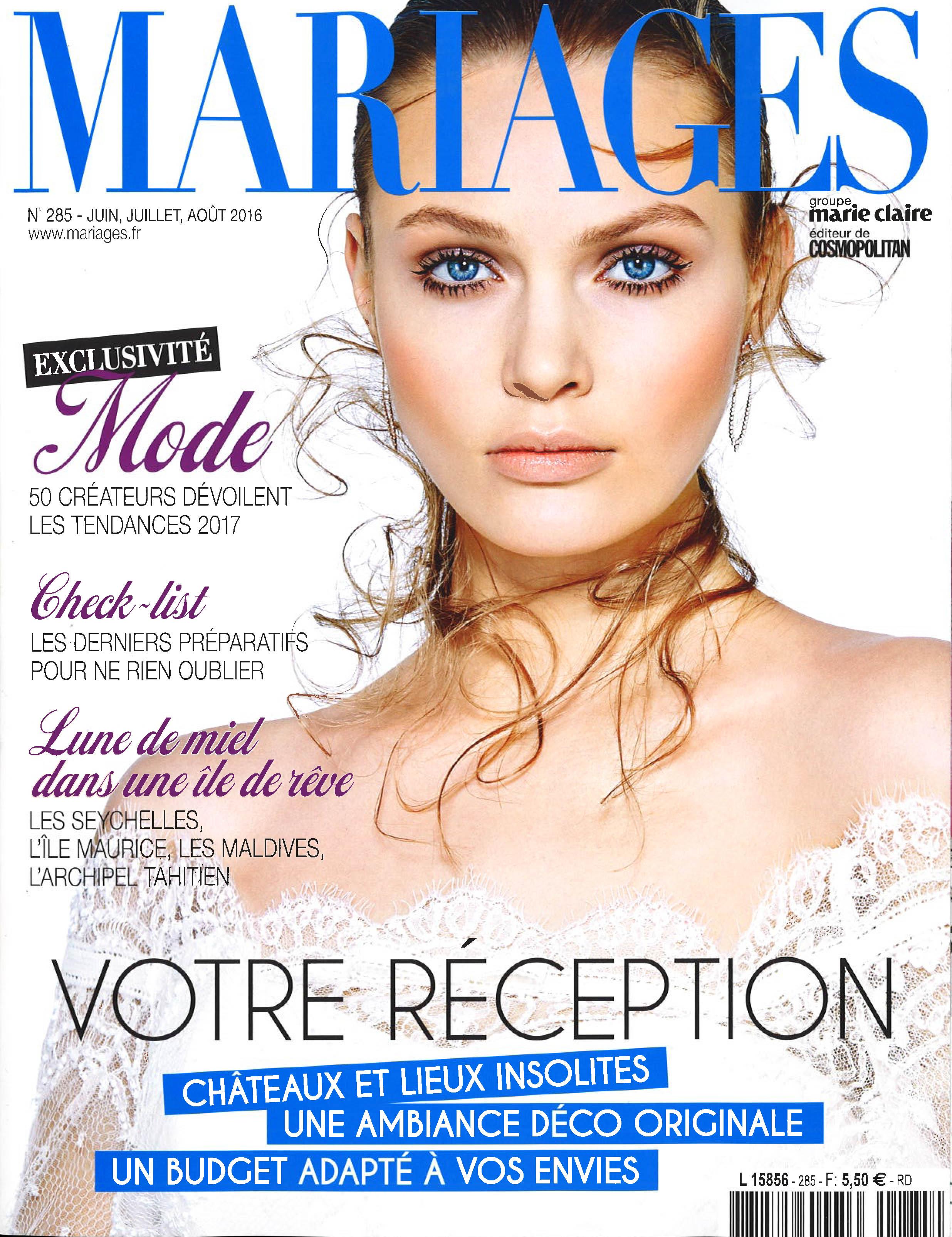 Mariages France Magazine - Mai 2016